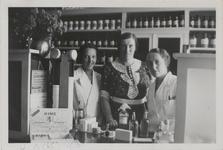 M 11570 Mevrouw D. van Arkel, geslaagd in 1916 voor haar gymnasium B diploma aan het gymnasium in Tiel. Ze poseert ...