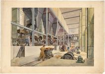 726 Interieurtekening van de vernieuwde malerij van de Chamotte-Unie, in kleur, [1942]