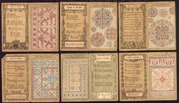 7688 Dit zijn tien reclameplaatjes van de firma Göggingen: motieven voor kruissteek, holbein en haken, [rond 1900]