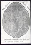 7716 12 fotokopieën van 12 handgekleurde borduurpatronen van verschillende uitgevers, 1 fotokopie van een bijlage bij ...