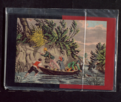 7722 Dit zijn zes ansichtkaarten in kleur met reproducties van kruissteekpatronen afkomstig van de Atlas ...