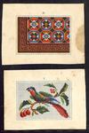 7724 De voorstelling op dit borduurpatroon bestaat uit twee motiefjes voor verschillende doeleinden: 1. een gekleurde ...