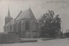Lie 489 N.H. Lambertus Kerk met de oude openbare lagere school