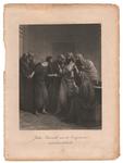 126 Een bijbelse voorstelling: Judas Pscarioth met de Overpriesters onderhandelende