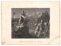 133 Een bijbelse voorstelling: Gideon breekt het altaar van Baäl af