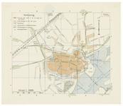 23 Een plattegrond van Tiel, uitgegeven door de A.N.W.B. Met een lijst van verklaring. De bebouwing van Tiel in de 2de ...