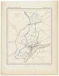 25 Een gemeente kaartje van Tiel. De gemeente grens is ingetekend en ingekleurd