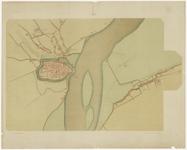 34 Een plattegrond van Tiel, door J. van Deventer uit het derde kwart van de zestiende eeuw. Naast de binnenstad van ...