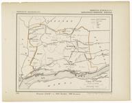 42 Een gemeente kaartje van Echteld. De gemeente grens is ingetekend en ingekleurd