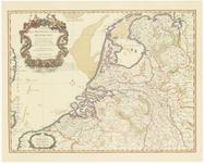43 Een kaart van de Republiek der Zeven Verenigde Nederlanden, met het uitgeversimpressum linksboven in een grote ...