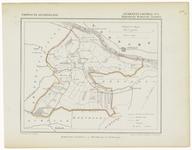 47 Een gemeente kaartje van Lienden. De gemeente grens is ingetekend en ingekleurd