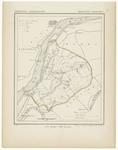 48 Een gemeente kaartje van Dreumel. De gemeente grens is ingetekend en ingekleurd