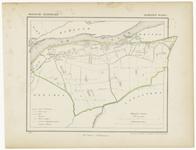 49 Een gemeente kaartje van Wamel. De gemeente grens is ingetekend en ingekleurd