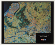 50 Een satellietfoto van de provincie Gelderland, gemaakt vanaf 703 km hoogte en geeft een gebied weer van 185 x 185 km