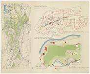 51 Een samengestelde overzichtskaart van Maas en Waal-West met een kaartje van de kleigronden, een kaartje van de ...
