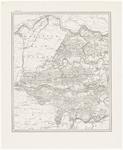 54 Een topografische kaart in grijs van het gebied tussen Culemborg, Gorinchem en Zaltbommel