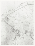 55 Een deel van de verpondingskaart van Drumpt. Te herkennen zijn: de Gouden Wagen, Geerenstein, de kerk en ...