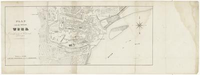 57 Een plattegrond van de binnenstad van Tiel en de nabije omgeving