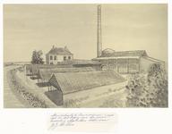 70 De steenfabriek in Zennewijnen, met een huis dat in de jaren zeventig van de vorige eeuw is afgebroken. Het huis ...