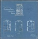 134 Vooraanzicht en plattegronden van het pand Tolhuiswal nummer 31, 1902
