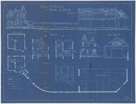 137 Een bouwtekening met een ontwerp voor de uitbreiding van de Tielse gasfabriek aan de Rechtbankstraat met een ...