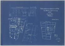 150 Een bouwtekening van een slagerij en rokerij met beneden- en bovenwoning in Tiel, voor de heer G.J. Blom, op de ...