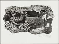 207 Een fotocollage van de oorlogsschade door de Tweede Wereldoorlog en van de wederopbouw daarna. Met mannen die aan ...