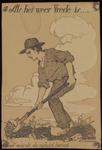 235 Een spotprent als reactie op de Eerste Wereldoorlog: Historia schrijft in het grote boek de donkere geschiedenis op ...