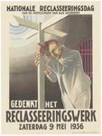 278 Een affiche met als onderwerp de reclassering in Nederland. Op het affiche is een gereclasseerde te zien die net ...