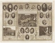 286 Een gedenkafbeelding van de Antirevolutionaire Partij. Op de plaat verschillende portretten van mensen die van ...