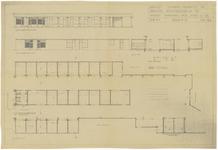 289 Een bouwtekening van de noodwinkels aan het Beursplein in Tiel, juni 1945. Gemeente werken 10-09-1945. nr. 277 1e ...