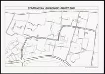313 Een plattegrond van het stratenplan Rauwenhof, Drumpt-zuid