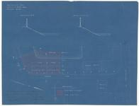 354 Een plattegrond van het terrein aan de Slaperdijk, Waalbandijk (Echteldsedijk) en Nieuwe Haven. Met schuur en ...