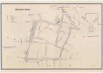 411 Een plattegrond van het parcours voor het Oogst- en Fruitcorso gehouden in 1985. Op de plattegrond ook de plaats ...