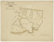 427 Een plattegrondtekening van de kom van de gemeente Tiel, met de grenzen van de kom