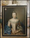 459 Twee foto's van portretschilderijen. Het eerste portret is van Magaretha Vijgh (1736-1810), vrouwe van De Snor, ...