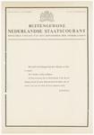461 De voorpagina van de buitengewone Nederlandse Staatscourant, officiële uitgave van het Koninkrijk der Nederlanden. ...