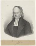 470 Een portret van P. van der Willigen (1778-1847) predikant te Tiel in de 19de eeuw