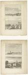 533 Een aanzicht van de Westluidense Poort met daarboven een stadsprofiel van Tiel met de Waterpoort, gierbrug en ...