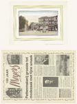 534 Een facsimile van een kleuren prentbriefkaart van de Groenmarkt (Markt) richting Voorstad. Een geschenk aangeboden ...