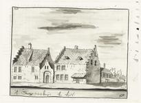 543 Een tekening van de het weeshuis in Tiel aan het Hoogeinde, [1750]