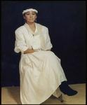 579 Een studioportret van een vrouw gemaakt tijdens het Freak-Festival 1984