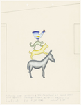 586 Een ontwerp voor een gevelversiering van een kleuterschool aan de Voor de Kijkuit in Tiel, uit te voeren in ...