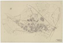 588 Een plattegrond van de gemeente Tiel met een aanduiding van de bebouwing