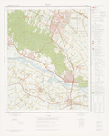 597 Een topografische kaart van het gebied Rhenen (39 E), met tussen de hoekpunten Amerongen, Veenendaal, Ingen en Kesteren