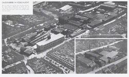 602 Een luchtfoto opgenomen in het jaarverslag van Daalderop uit 1963. De foto toont het fabrieksterrein van Daalderop ...
