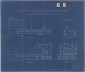 637 Een bouwtekening voor het kantoor voor de Nederlandsche Maatschappij van Brandverzekering te Tiel, aan de ...