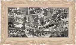 641 Een fotocompositie van het 75-jarig jubileum van de metaalwarenfabriek Daalderop aan de Binnenhoek