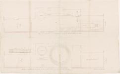 643 Een bouwtekening van een olieslagerij van de heer H. van Winssen in Tiel waar wordt overgegaan van paardenkracht ...