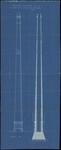 654 Een bouwtekening voor een stoomschoorsteen voor de NV. Demyhon en Ballonglasfabriek te Tiel. De tekening toon een ...